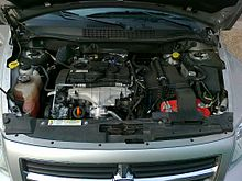 a picture of the vw-built tdi pump-duse diesel engine which powered the dodge  caliber diesel variant sold in europe (my2007)