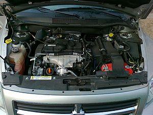 Dodge Caliber - A picture of the VW-built TDI pump-duse diesel engine which powered the Dodge Caliber diesel variant sold in Europe (MY2007)