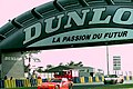 Dodge Viper RT10 - Rene Arnoux, Justin Bell & Bertrand Balas and Porsche 911 Carrera RSR - Laffite, Almeras & Almeras head under the Dunlop Bridge at the 1994 Le Mans (31130404004).jpg