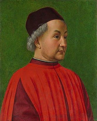 Domenico Ghirlandaio - Portrait of a Man, possibly Marsilio Ficino, (c. 1477) Metropolitan Museum of Art