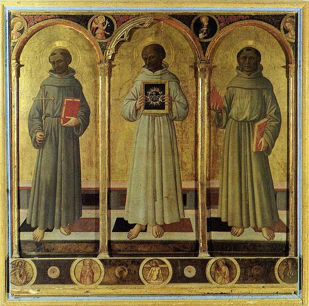 File:Domenico di Michelino - Three Franciscan Saints - WGA06420.jpg