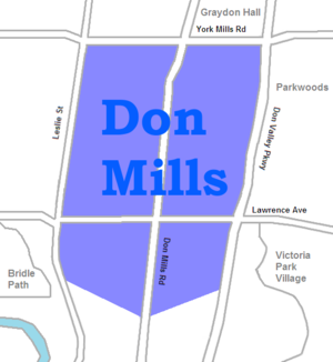 Don Mills - Image: Don Mills map