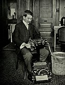 DonaldMurray with Telegraphic Typewriter.jpg