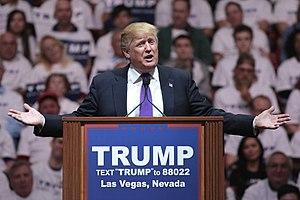 Attempted assassination of Donald Trump - Donald Trump addressing a rally in Las Vegas, Nevada in February 2016.