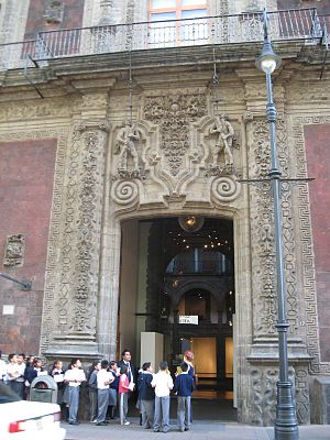 Palace of Iturbide - Doorway into the building