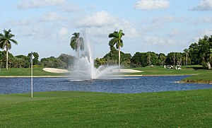 Trump National Doral Miami - The 18th hole of the Blue Monster course.