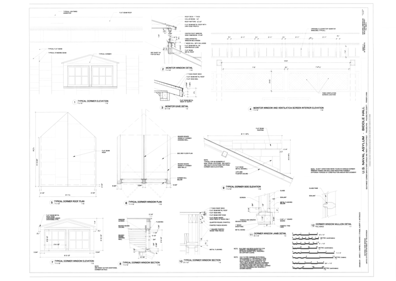 File dormer details and monitor window and ventilation for Dormer window construction drawings