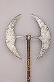 Double-bladed Processional Axe MET 36.25.1844 003jan2015.jpg
