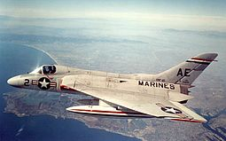 Douglas F4D-1 Skyray of VMF-115 in flight, 4 April 1957 (NNAM.1996.253.7328.029).jpg