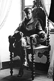 Brigadier General MacArthur at a French Chateau, September 1918.