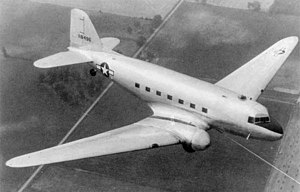 Douglas XCG-17 - The XCG-17 during towed flight