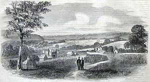 Goochland County, Virginia - Dover Mills, depicted in 1865