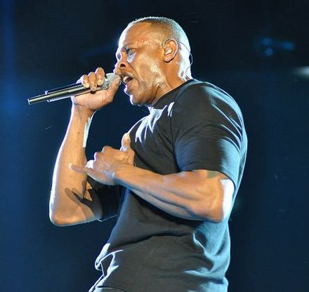 Dr. Dre performs at the 2012 Coachella Valley Music and Arts Festival. Dr. Dre at Coachella 2012 cropped.jpg