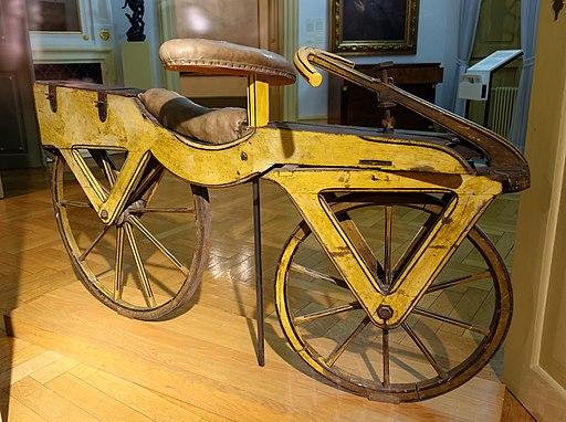 Draisine or Laufmaschine, c. 1820 - Kurpfälzisches Museum der Stadt Heidelberg - Heidelberg, Germany - DSC01526