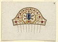 Drawing, Design for Cresting of a Comb, ca. 1810 (CH 18549549).jpg