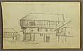 Drawing, Street Corner in Guaquil, Ecuador; Verso- Botanical sketches, house, Ecuador or Colombia, 1857 (CH 18202607).jpg
