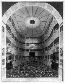 Inneres des Morettischen Opernhauses zu Dresden, in dem Morlacchi tätig war (Quelle: Wikimedia)