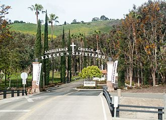 Saddleback Church - The driveway to Saddleback Church of Rancho Capistrano campus in San Juan Capistrano.