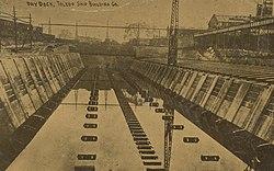 Сухой док, Toledo Ship Building Company, Толедо, Огайо, 1912 год.