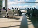 Dublin airport. Waiting for a plane to Brussels. (5101373103).jpg