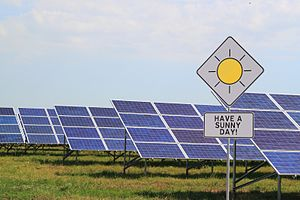 Solar power in Ukraine - Image: Dunayskaya solar station 2013