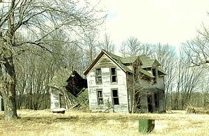 Dunn County, Wisconsin - Old farmhouse in Dunn County