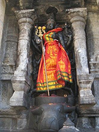 Durga - Statue of Goddess Durga, Tamil Nadu