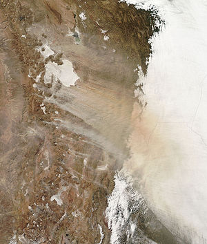 Dust Storm over Bolivia.