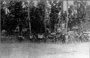 Dutch column moving forward to Denpasar 1906