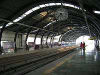 A Metro Station in Dwarka