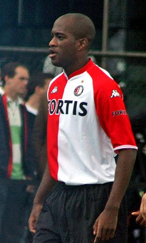Dwight Tiendalli - Tiendalli in the Feyenoord home shirt in 2007.