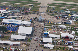 EAA AirVenture Oshkosh - View of the central pavilion of EAA Airventure 2014