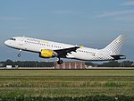 EC-JFF Vueling Airbus A320-214 cn2388 takeoff from Schiphol (AMS - EHAM), The Netherlands pic2.JPG