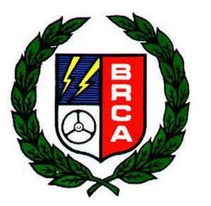 British Radio Car Association - one of the early logos of the BRCA (1970s-1990s)