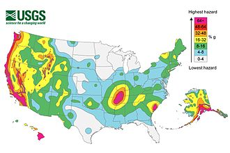 Nuclear safety and security - earthquake map