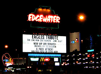 Edgewater Hotel and Casino - The property's marquee sign