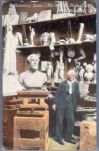 Edward Virginius Valentine - Edward Valentine Studio Postcard