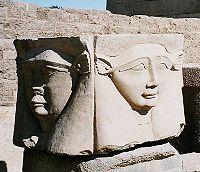 Imagem de Hathor no Templo de Denderá