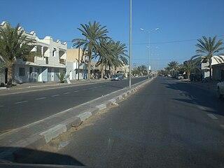 El Hamma Place in Gabès Governorate, Tunisia