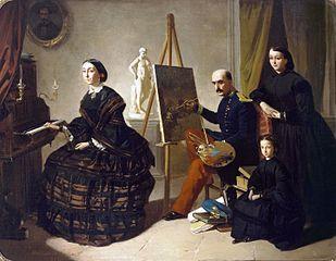El pintor carlista y su familia