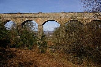 Elan aqueduct - Elan aqueduct on the Deepwood Dingle Crossing, Bringewood