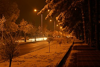 Elazığ - Image: Elazig on a snowy day
