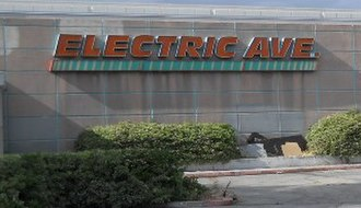"Montgomery Ward - ""Electric Avenue"" logo on closed store in Panorama City, California (2010)"