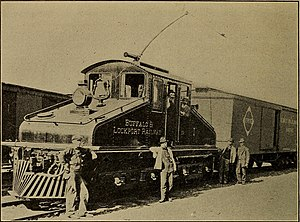 New York Central Railroad - An electric locomotive of the Buffalo and Lockport Railroad, ca. 1911