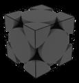 Elementarzelle einer kubisch flächenzentrierten Kristallstruktur.png