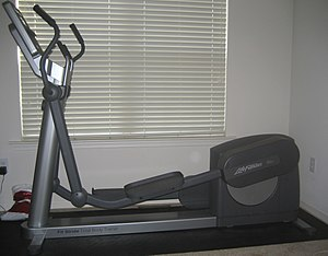 Commercial elliptical trainer (rear drive version)