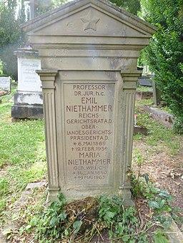Emil Niethammer Stadtfriedhof Tübingen