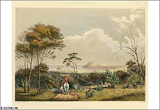 Rosetta Head - Image: Encounter Bay by George French Angas (State Library of South Australia B15276 16)