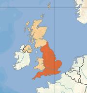 Poloha anglie v rámci spojeného království velké británie a