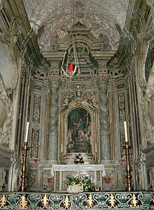 Particolare del presbitero destro del Duomo, in stile barocco